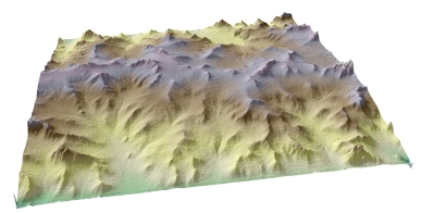Landscape in a box: How climate can set valleyspacing